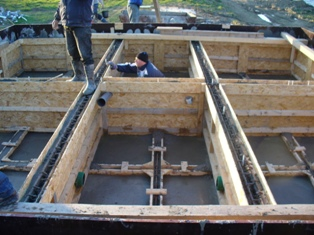 2. The formwork and the floater's casting
