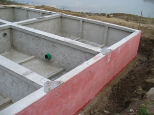 3. The floater after de-formwork